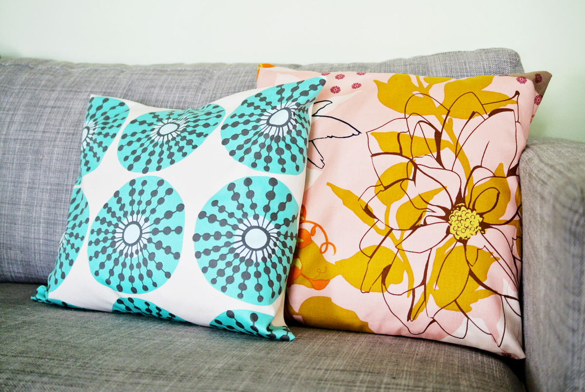 colorful no-sew pillow cases | farm fresh therapy.jpg : diy no sew envelope pillow  - pillowsntoast.com